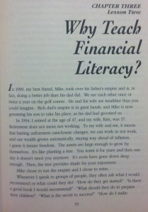 Chapter 3- Why Teach Financial Literacy