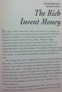 Chapter 6- The Rich Invent Money
