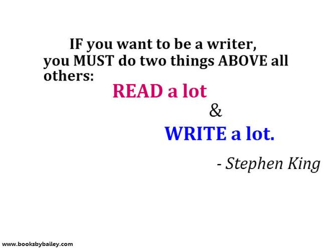 If you want to be a writer...