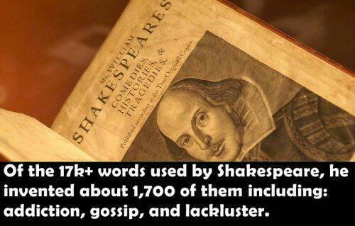 Of all the 17k+ words used by Shakespeare...