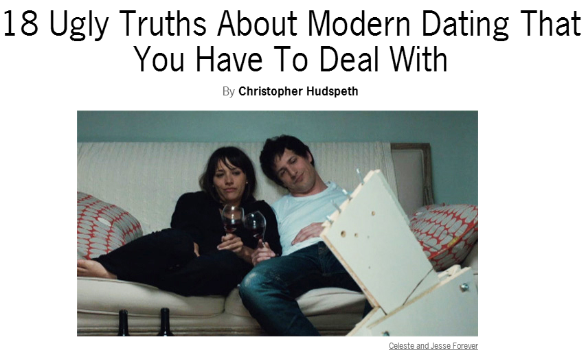 18 truths of modern dating
