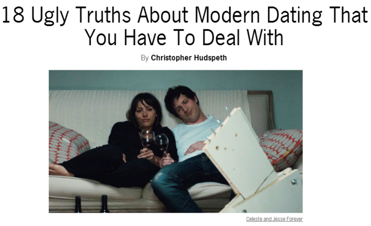 18 truths about dating The ugly reality of dating japanese women reinhardt july you are spot on with your rebuttal of this list of half-truths and i'd like to add january 18.