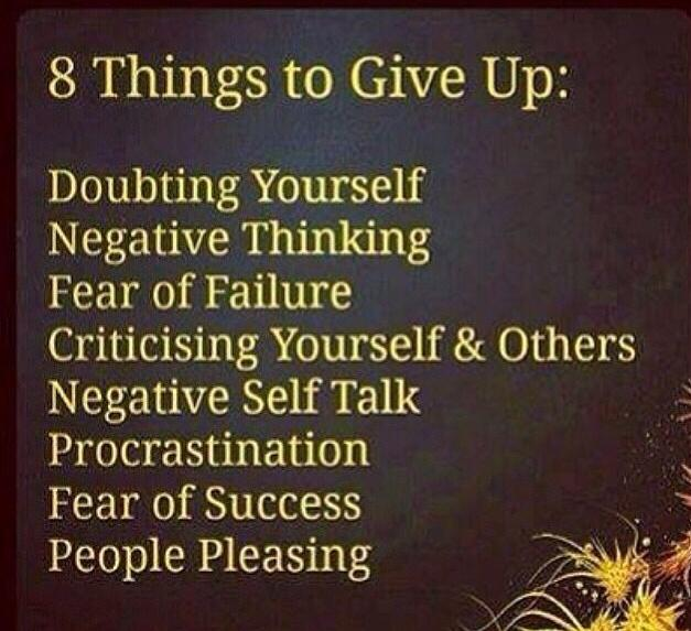 8 Things You Need to Give Up!