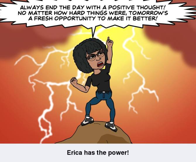 Always end the day with a positive thought!