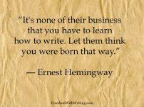 Ernest Hemingway 3