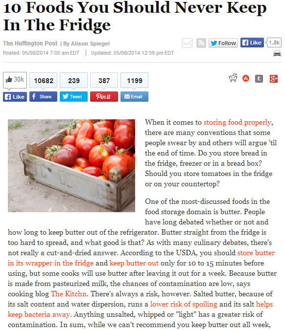 10_Foods_You_Should_Never_Keep_In_The_Fridge