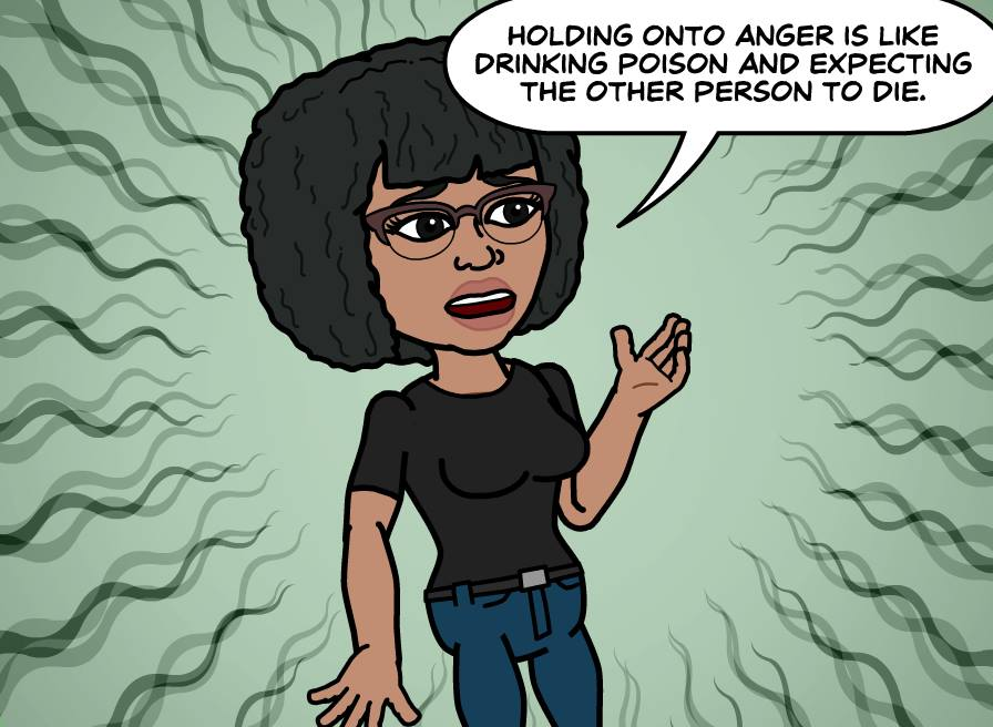 Holding onto anger is like...