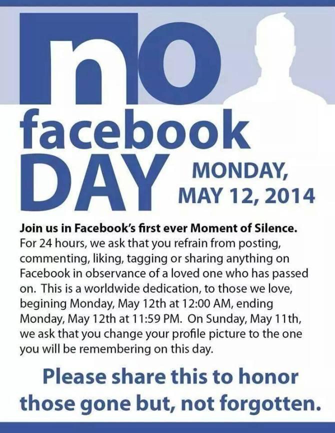 no facebook day