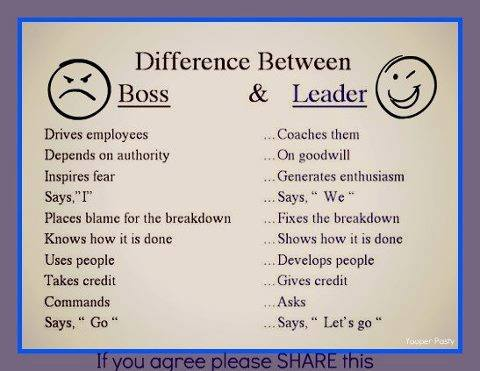 The Difference Between a Boss and a Leader...