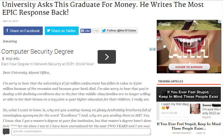 University_Asks_This_Graduate_For_Money._He_Writes_The_Most_EPIC_Response_Back!