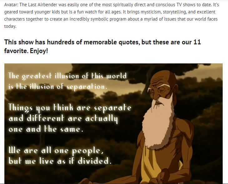 The greatest illusion of this world...