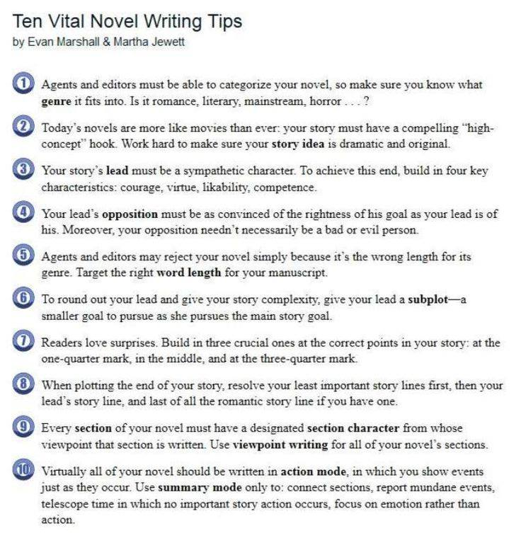 Tips on writing fiction